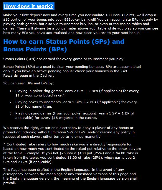 888 casino bonus terms
