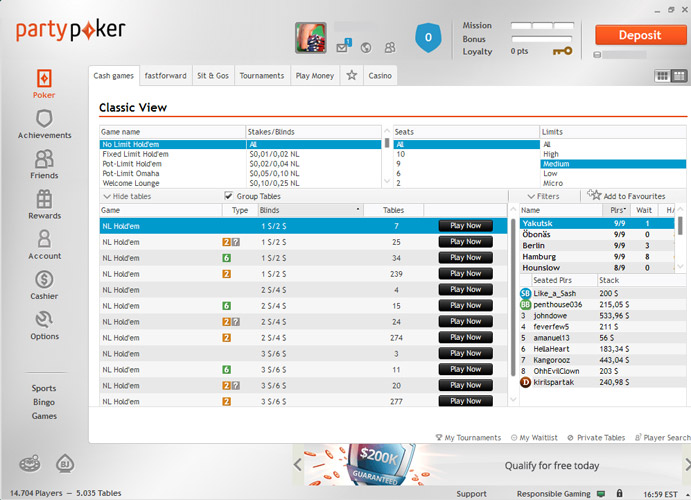 party poker online spielen