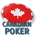 Poker Chip with Canadian flag